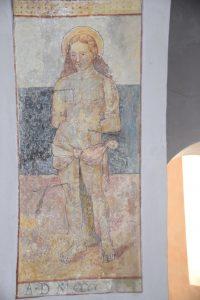 Der heilige Sebastian in der Kirche in Montekologna